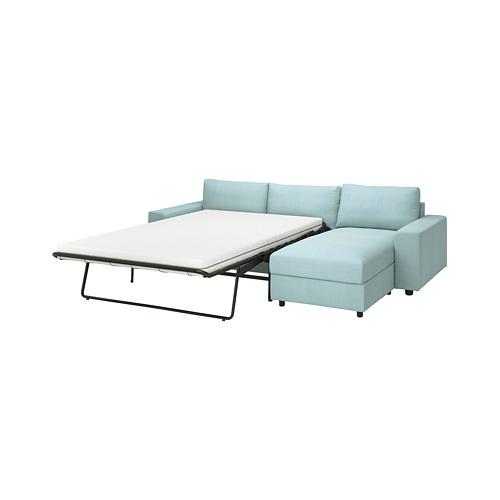 VIMLE - 三座位梳化連躺椅, with wide armrests/Saxemara light blue | IKEA 香港及澳門 - PE801653_S4