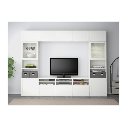 BESTÅ - 電視貯物組合/玻璃門, Hanviken 白色/透明玻璃 | IKEA 香港及澳門 - PE537673_S4