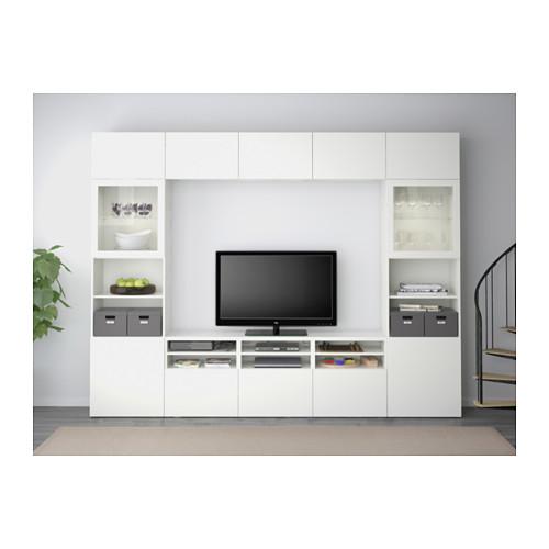 BESTÅ - 電視貯物組合/玻璃門, white/Lappviken white clear glass | IKEA 香港及澳門 - PE537680_S4