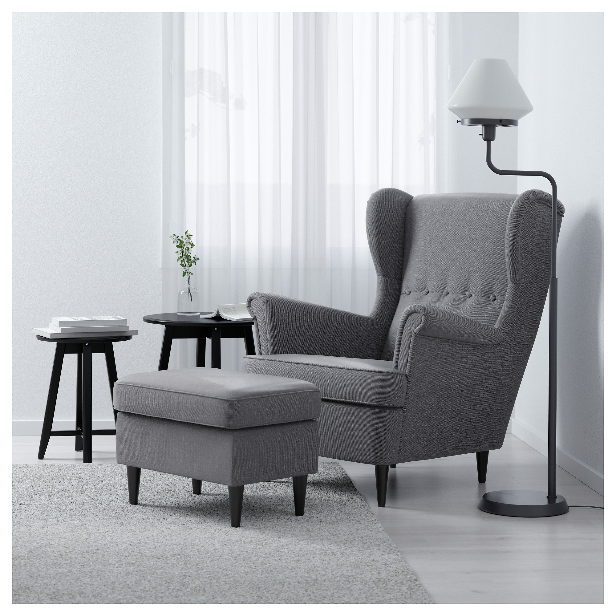 STRANDMON - wing chair, Nordvalla dark grey | IKEA Hong Kong