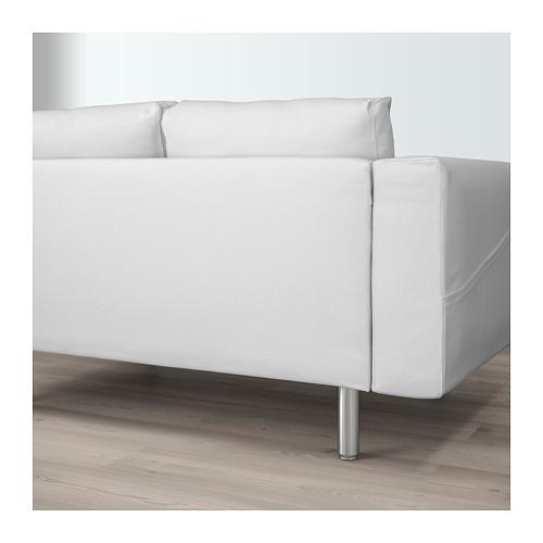 NORSBORG - 4-seat sofa, with chaise longues/Finnsta white/metal | IKEA Hong Kong and Macau - PE659387_S4