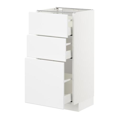METOD/MAXIMERA - 3層抽屜地櫃, 白色/Kungsbacka 啞白色 | IKEA 香港及澳門 - PE707473_S4