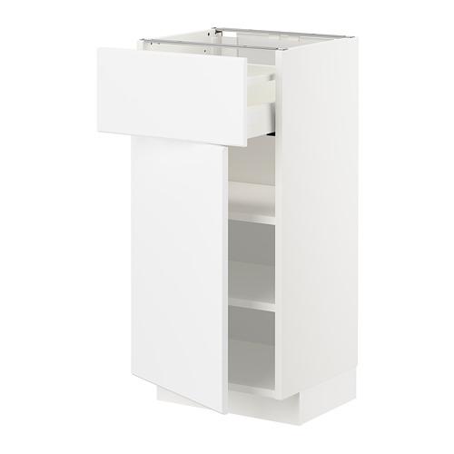 METOD/MAXIMERA - base cabinet with drawer/door, white/Kungsbacka matt white | IKEA Hong Kong and Macau - PE707475_S4