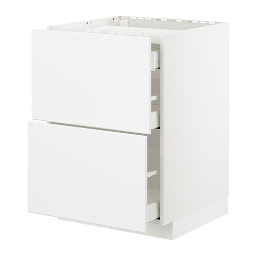 METOD/MAXIMERA base cab f hob/2 fronts/3 drawers