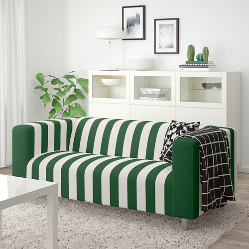 KLIPPAN - 2-seat sofa, Radbyn green/white | IKEA Hong Kong and Macau - PE780024_S4
