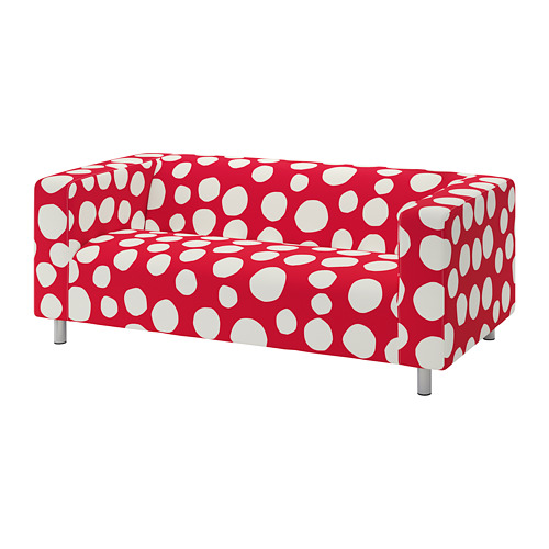 KLIPPAN - 兩座位梳化布套, Storvreta 紅色/白色 | IKEA 香港及澳門 - PE780031_S4