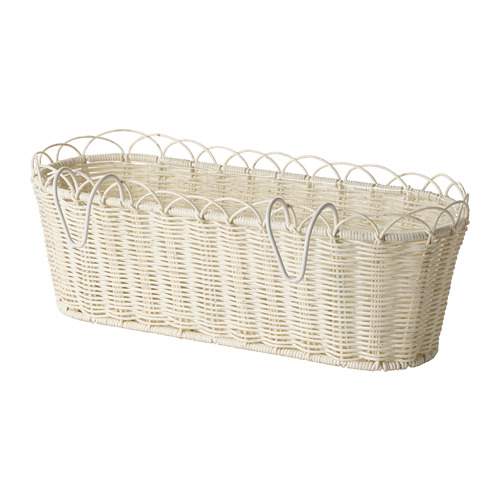 GALIAMELON - flower box with holder, in/outdoor white | IKEA Hong Kong and Macau - PE804305_S4