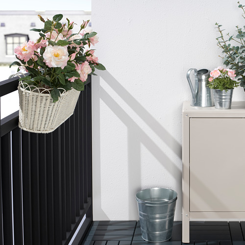 GALIAMELON - flower box with holder, in/outdoor white | IKEA Hong Kong and Macau - PE804306_S4