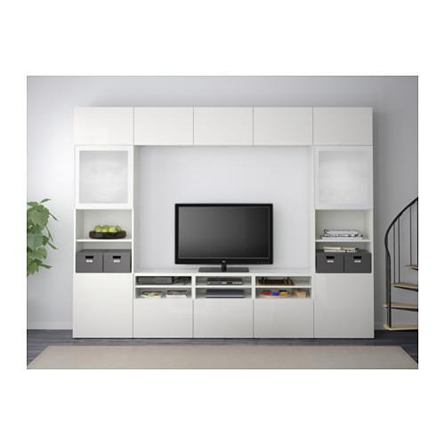 BESTÅ - 電視貯物組合/玻璃門, 白色/Selsviken 光面/白色/磨砂玻璃 | IKEA 香港及澳門 - PE537699_S4