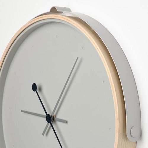 ROTBLÖTA - wall clock, ash veneer/light grey | IKEA Hong Kong and Macau - PE747442_S4