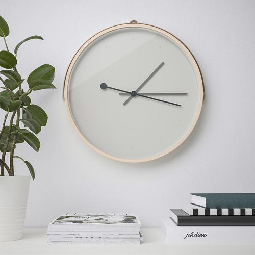 ROTBLÖTA - wall clock, ash veneer/light grey | IKEA Hong Kong and Macau - PE747444_S4