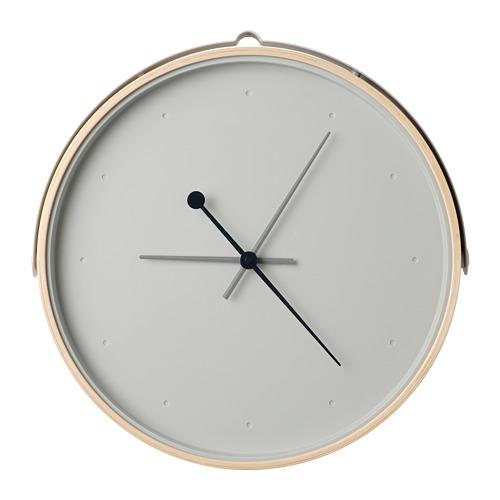 ROTBLÖTA - wall clock, ash veneer/light grey | IKEA Hong Kong and Macau - PE747443_S4