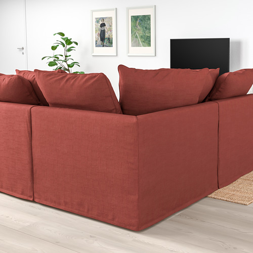 GRÖNLID - corner sofa, 5-seat, with chaise longue/Ljungen light red | IKEA Hong Kong and Macau - PE780070_S4