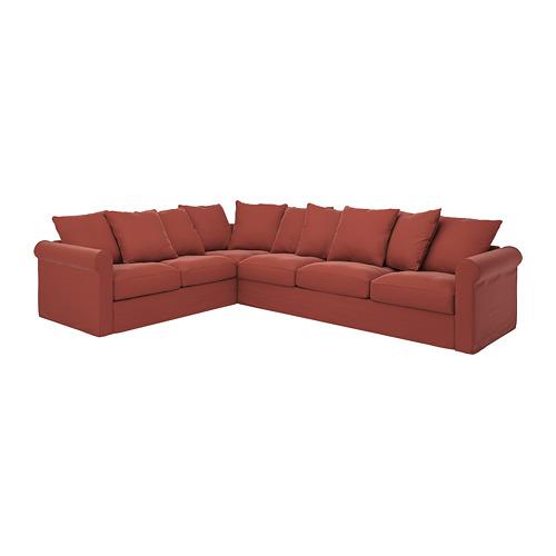 GRÖNLID - cover for corner sofa, 5-seat, Ljungen light red | IKEA Hong Kong and Macau - PE780102_S4