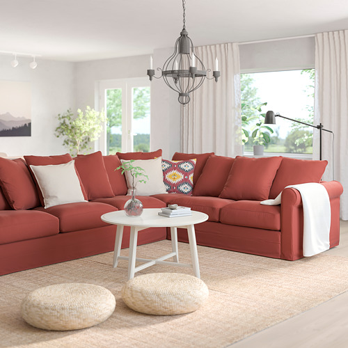 GRÖNLID - corner sofa, 5-seat, Ljungen light red   IKEA Hong Kong and Macau - PE780105_S4