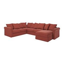 GRÖNLID - corner sofa, 5-seat, with chaise longue/Ljungen light red   IKEA Hong Kong and Macau - PE780106_S3