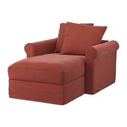 GRÖNLID - chaise longue, Ljungen light red   IKEA Hong Kong and Macau - PE780110_S3