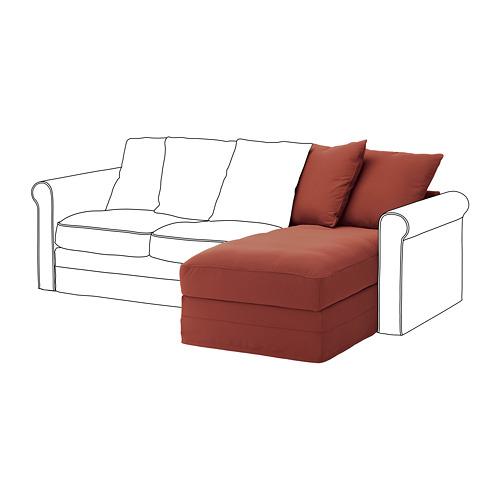 GRÖNLID - chaise longue section, Ljungen light red | IKEA Hong Kong and Macau - PE780117_S4