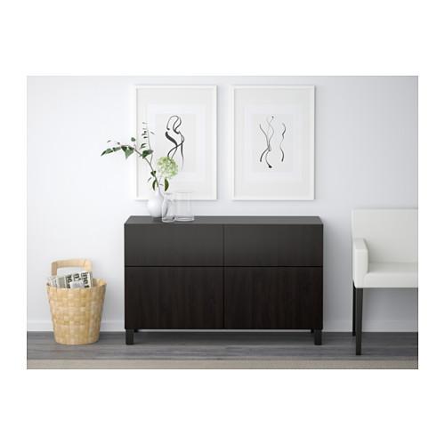 BESTÅ - 貯物組合連門/抽屜, black-brown/Lappviken/Stubbarp black-brown | IKEA 香港及澳門 - PE537492_S4
