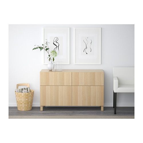 BESTÅ - 貯物組合連門/抽屜, white stained oak effect/Lappviken/Stubbarp white stained oak effect   IKEA 香港及澳門 - PE537496_S4