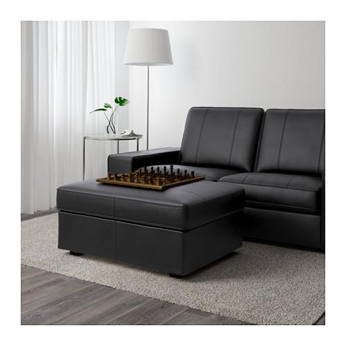 KIVIK - footstool, Grann/Bomstad black | IKEA Hong Kong and Macau - PE601460_S4