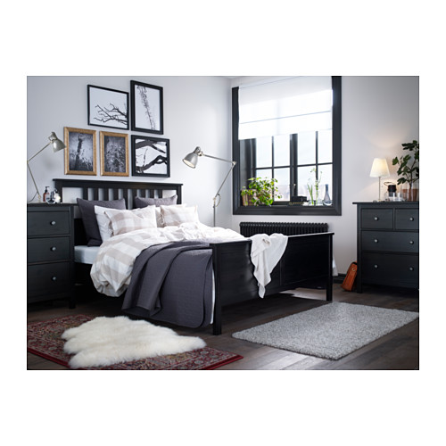 HEMNES - bed frame, black-brown | IKEA Hong Kong and Macau - PH133327_S4