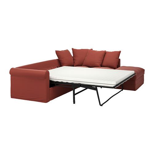 GRÖNLID - 4座位角位梳化床, 開放式/Ljungen 淺紅色   IKEA 香港及澳門 - PE780120_S4