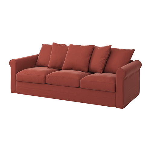 GRÖNLID - cover for 3-seat sofa, Ljungen light red | IKEA Hong Kong and Macau - PE780165_S4