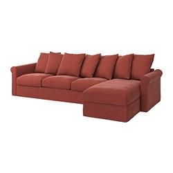 GRÖNLID - 四座位梳化, with chaise longue/Ljungen light red | IKEA 香港及澳門 - PE780176_S3