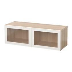 BESTÅ - shelf unit with glass doors, white stained oak effect/Glassvik white/clear glass | IKEA Hong Kong and Macau - PE537345_S3