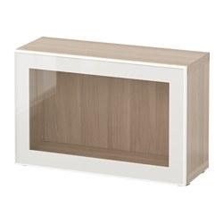 BESTÅ - 層架組合連玻璃門, 染白橡木紋/Glassvik 白色/透明玻璃 | IKEA 香港及澳門 - PE537361_S3