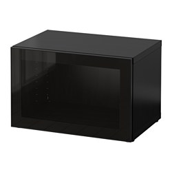 BESTÅ - 層架組合連玻璃門, 棕黑色/Glassvik 黑色/透明玻璃 | IKEA 香港及澳門 - PE537365_S3