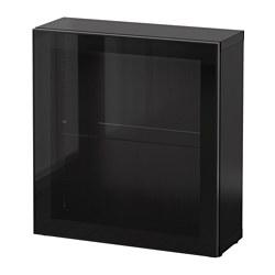 BESTÅ - 層架組合連玻璃門, 棕黑色/Glassvik 黑色/透明玻璃 | IKEA 香港及澳門 - PE537301_S3
