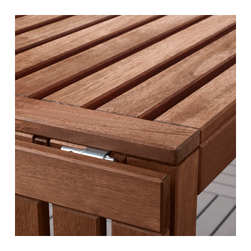 ÄPPLARÖ - table+8 reclining chairs, outdoor, brown stained | IKEA Hong Kong and Macau - PE659047_S4