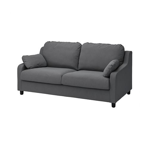 VINLIDEN - cover for 3-seat sofa, Hakebo dark grey | IKEA Hong Kong and Macau - PE780236_S4