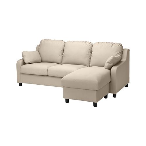 VINLIDEN - 三座位梳化布套, 連躺椅/Hakebo 米黃色 | IKEA 香港及澳門 - PE780242_S4