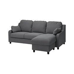 VINLIDEN - 3-seat sofa with chaise longue, Hakebo dark grey | IKEA Hong Kong and Macau - PE780245_S3
