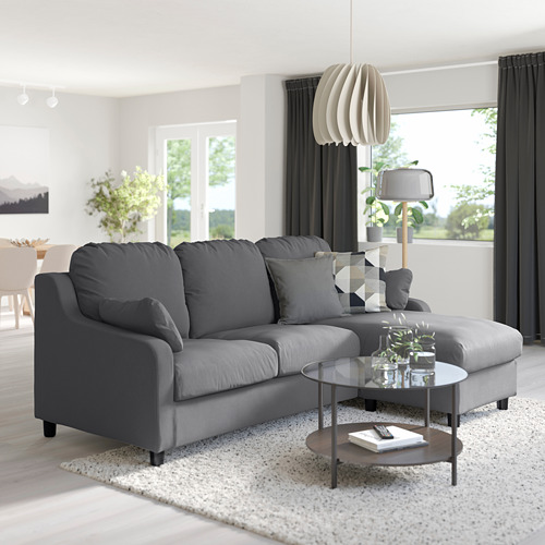 VINLIDEN 3-seat sofa with chaise longue