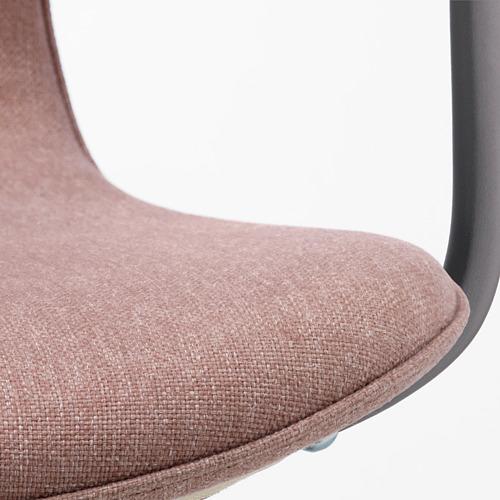 LÅNGFJÄLL - office chair with armrests, Gunnared light brown-pink/black   IKEA Hong Kong and Macau - PE685892_S4