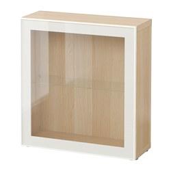 BESTÅ - shelf unit with glass door, white stained oak effect/Glassvik white/clear glass | IKEA Hong Kong and Macau - PE537313_S3