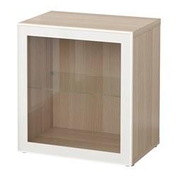 BESTÅ - shelf unit with glass door, white stained oak effect/Glassvik white/clear glass | IKEA Hong Kong and Macau - PE537329_S3