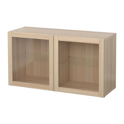 BESTÅ shelf unit with glass doors