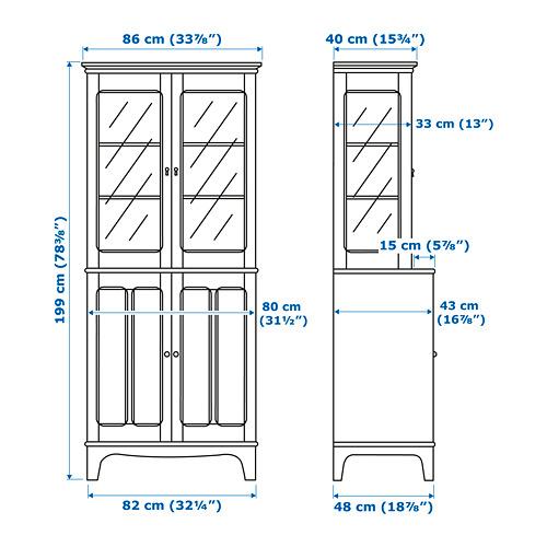 LOMMARP - 玻璃門貯物櫃, 深藍綠色 | IKEA 香港及澳門 - PE747481_S4