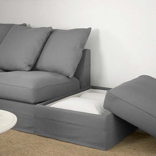 GRÖNLID - corner sofa, 4-seat, with open end/Ljungen medium grey | IKEA Hong Kong and Macau - PE669665_S4