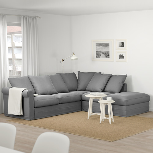 GRÖNLID - corner sofa, 4-seat, with open end/Ljungen medium grey | IKEA Hong Kong and Macau - PE674992_S4