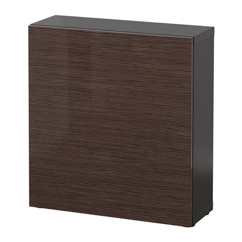 BESTÅ - 層架組合連門, 棕黑色/Selsviken 光面/褐色 | IKEA 香港及澳門 - PE537219_S4