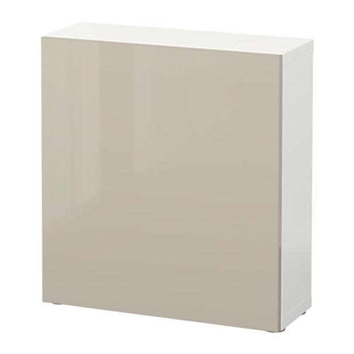 BESTÅ - 層架組合連門, 白色/Selsviken 光面/米黃色 | IKEA 香港及澳門 - PE537167_S4