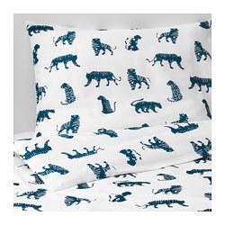 URSKOG - quilt cover and pillowcase, tiger/blue | IKEA Hong Kong and Macau - PE659146_S3
