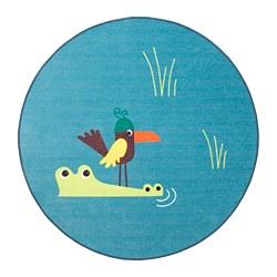 DJUNGELSKOG - rug, flatwoven, bird/blue | IKEA Hong Kong and Macau - PE659192_S3