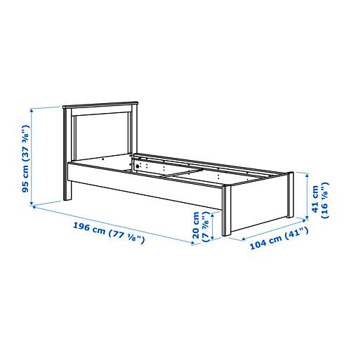SONGESAND - bed frame, LURÖY, single | IKEA Hong Kong and Macau - PE747515_S4